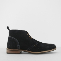 Silver Street London YORK Mens Suede Chukka Boots Navy Blue