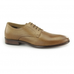 SILWOOD Mens Leather Smart Derby Shoes Tan