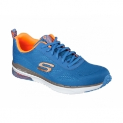 SKECH-AIR INFINITY Mens Sports Trainers Royal/Orange
