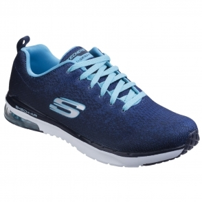 Skech-Air Infinity - Modern Chic Ladies Trainers Navy/Light Blue