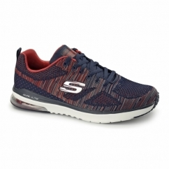 SKECH-AIR INFINITY RAPID FIRE Mens Trainers Navy/Red