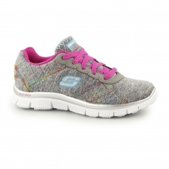 SKECH APPEAL - IT'S ELECTRIC Girls Trainers Grey/Multi