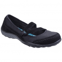 Skechers Active Breathe Eazy Lovestory Ladies Trainers Black