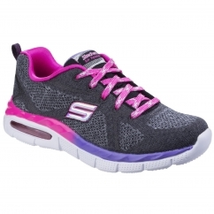 SKECHERS Air Appeal Breezy Bliss Childrens Trainers Black/Lavender/Pink