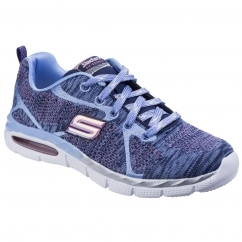 SKECHERS Air Appeal Breezy Bliss Childrens Trainers Navy/Periwinkle