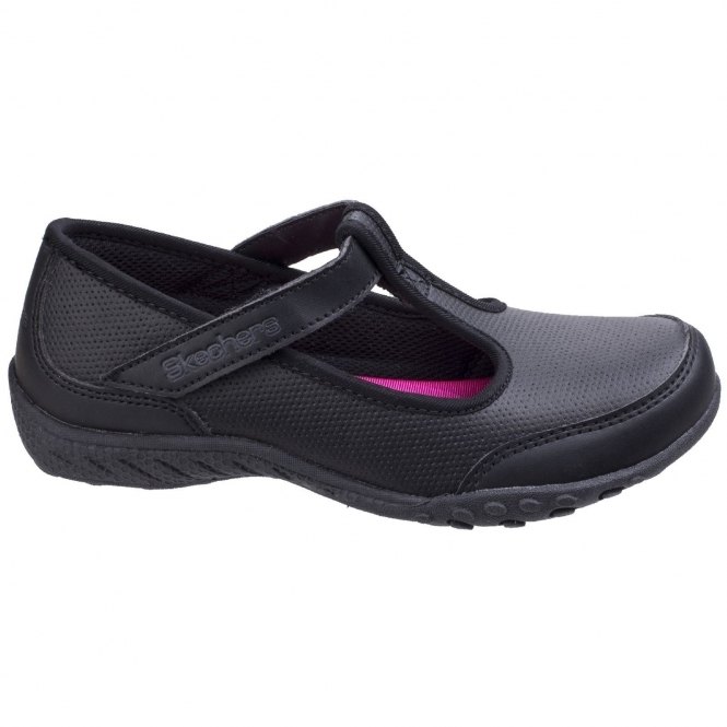 e6caa1f7ceaf Skechers BREATHE EASY PLAYGROUND PRINCESS Girls Leather T Strap ...