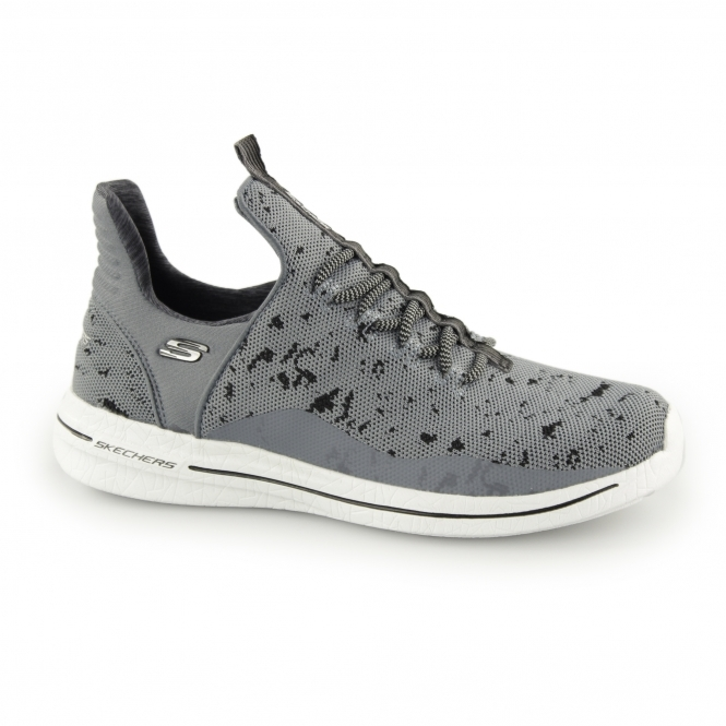 5d0f1363d6 Skechers BURST 2 NEW AVENUES Ladies Trainers Charcoal/Black | Shuperb