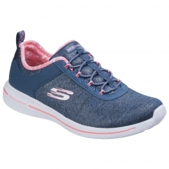 Skechers Burst 2.0 - Sunny Side Ladies Trainers Navy/Pink