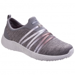 Skechers Burst Alter Ego Ladies Trainers Grey