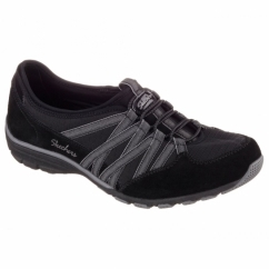 CONVERSATIONS HOLDING ACES Ladies Relaxed Fit Trainers Black/Charcoal