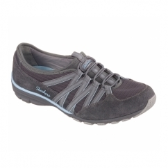 CONVERSATIONS HOLDING ACES Ladies Relaxed Fit Trainers Charcoal/Light Blue