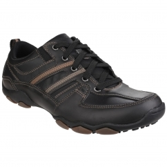 Skechers DIAMETER SELENT LACE UP SHOE Lace Mens Shoes Black | Shuperb
