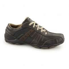 Skechers DIAMETER VASSELL Mens Lace Up Trainers Black & Tan