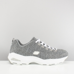 D'LITES ULTRA MEDITATIVE Ladies Lace Up Trainers Grey