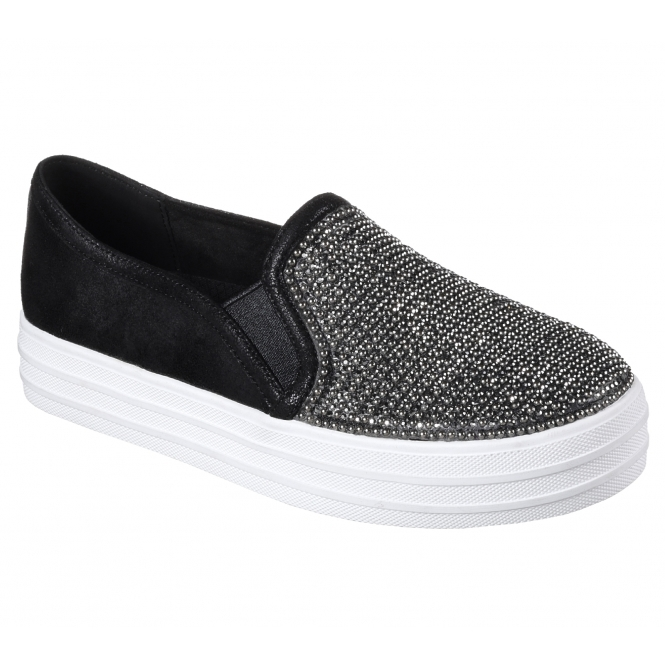Women's Shoes Clothing, Shoes & Accessories Skechers Double Shiny Trainers Ladies Shoes Womens Footwear