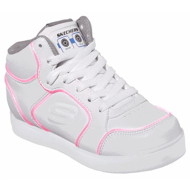 Kids Skechers S Lights E Pro III White