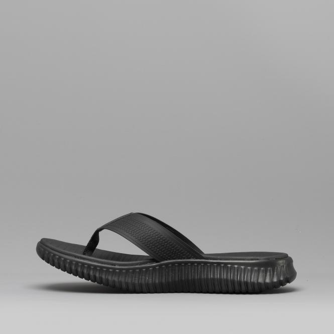 cbc46456e19d Skechers ELITE FLEX COASTAL MIST Mens Flip Flop Sandals Black 51721