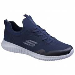 Skechers ELITE FLEX LASKER Mens Slip On Sports Trainers Navy | Shuperb