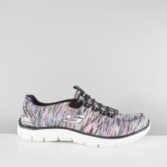 Skechers EMPIRE GAME ON Ladies Trainers Black/Multi