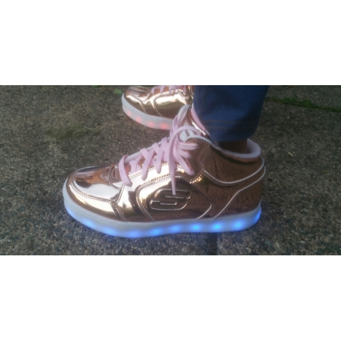 ENERGY LIGHTS ELIPTIC DANCE N DAZZLE Girls Light Up Trainers Rose Gold