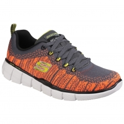 Skechers EQUALIZER 2.0 PERFECT GAME Boys Trainers Grey/Orange