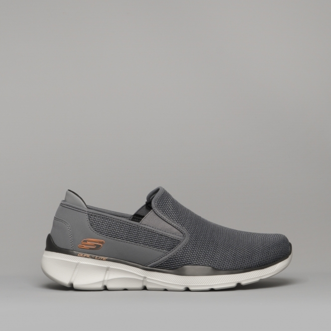 EQUALIZER 3 0 SUMNIN Mens Relaxed Fit Trainers Charcoal/Orange
