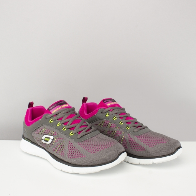 EQUALIZER NEW MILESTONE Ladies Lace Up Trainers CharcoalPink