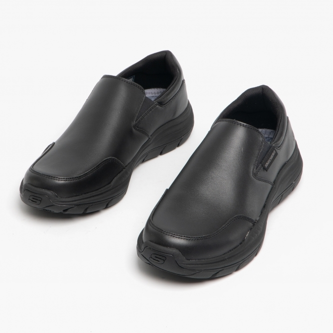 EXPECTED 2.0 OLEGO Mens Leather Slip On Shoes Black
