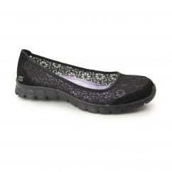 Skechers EZ FLEX 3.0-MAJESTY Ladies Crocheted Pumps Black