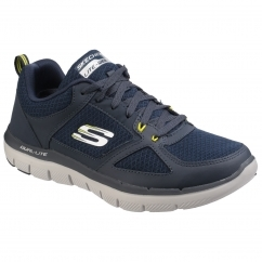 Skechers FLEX ADVANTAGE 2.0 - LINDMAN Mens Trainers Navy/Lime