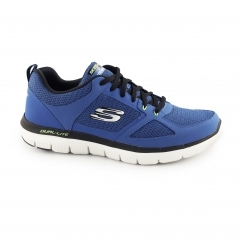 Skechers FLEX ADVANTAGE 2.0 Mens Fitness Trainers Blue/Lime