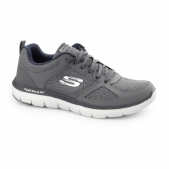 FLEX ADVANTAGE 2.0 Mens Sport Fitness Trainers Charcoal/Blue