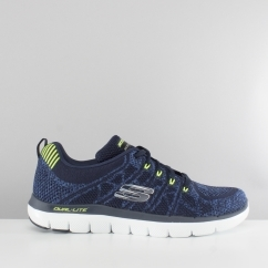 Skechers FLEX ADVANTAGE 2.0 TALAMO Mens Knitted Trainers Navy