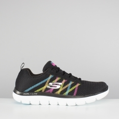 Skechers FLEX APPEAL 2.0-ACT COOL Ladies Trainers Black Multi