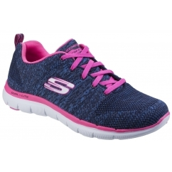 FLEX APPEAL 2.0 HIGH ENERGY Ladies Trainers Navy/Hot Pink