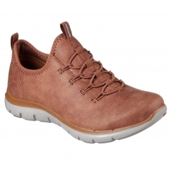 Skechers FLEX APPEAL 2.0 TOP STORY Ladies Trainers Chestnut | Shuperb