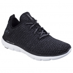 Skechers Flex Appeal 2.0 Bold Move Ladies Trainers Black/White