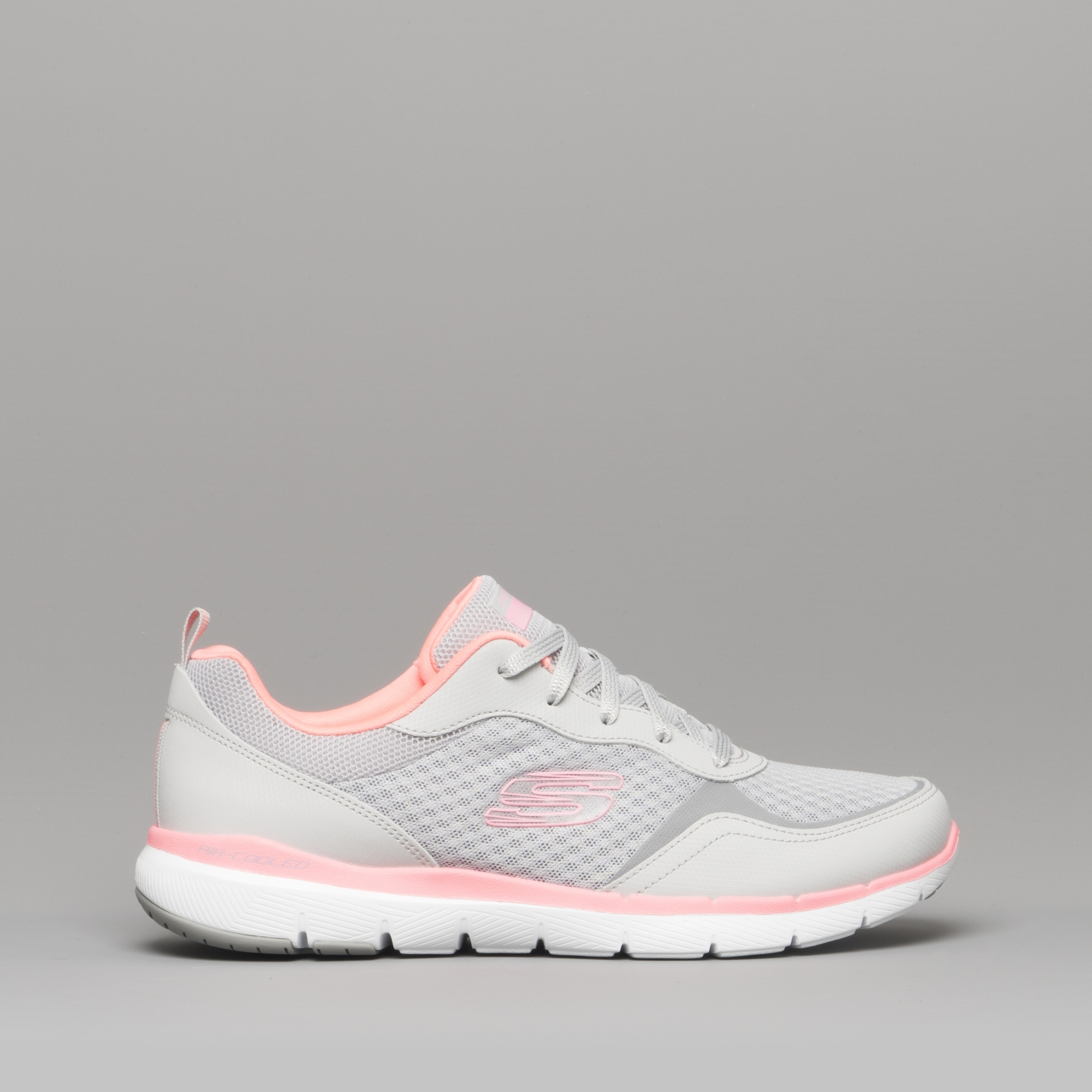 skechers pink and grey