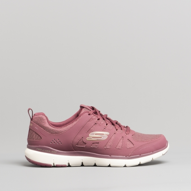 d1c36b1c395 Skechers FLEX APPEAL 3.0 Ladies Trainers Burgundy | Buy At Shuperb