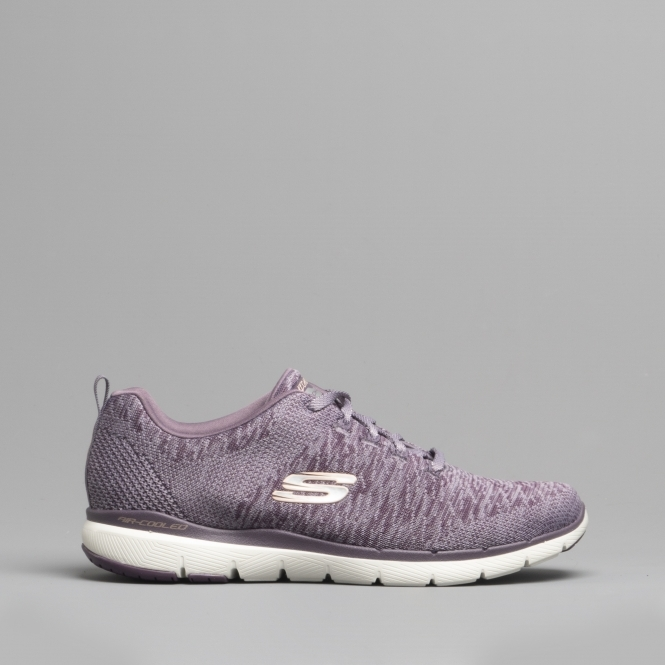17ae86e02d7 Skechers FLEX APPEAL 3.0 Ladies Trainers Plum | Shuperb