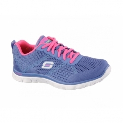 FLEX APPEAL-OBVIOUS CHOICE Ladies Gym Trainers Periwinkle/Pink