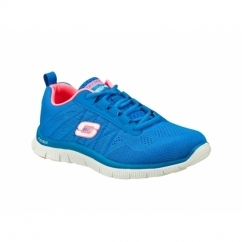 FLEX APPEAL SWEET SPOT Ladies Gym Trainers Blue/Hot Pink