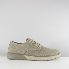 Skechers FOLTEN BRISOR Mens Canvas Casual Shoes Taupe