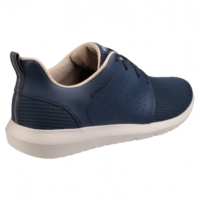 FOREFLEX Mens Leather Trainers Navy