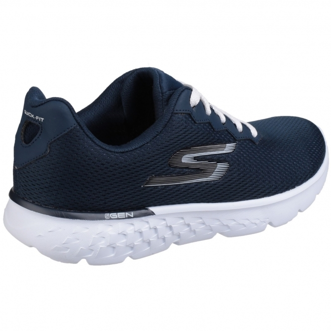 Skechers Go Run 400 Action Lace Up Trainers Shoe Ladies Navy White 32e956c71