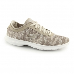 GO STEP Ladies Sports Trainers Taupe