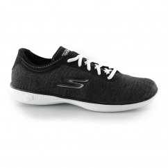 GO STEP LITE - AGILE Ladies Lace Up Trainers Black/White
