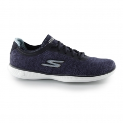 GO STEP LITE - AGILE Ladies Lace Up Trainers Navy/Light Blue