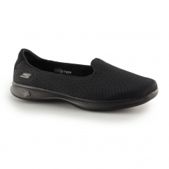 Skechers GO STEP LITE-ORIGIN Ladies Slip On Trainers Black | Shuperb