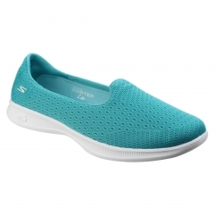 Skechers Go Step Lite Origin Slip On Ladies Shoes Teal